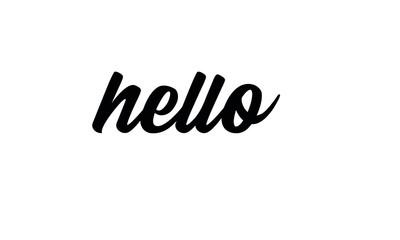 hello lettering vector illustration eps 10