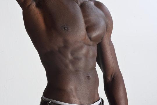 torso of african man