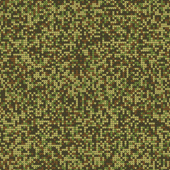 Melange Knitting Seamless Texture. Military Decorative Camouflage Pattern Background. Vector Illustration.