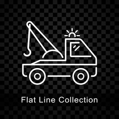 tow truck icon on checkered background