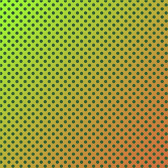pop art background. Points, green and orange colors