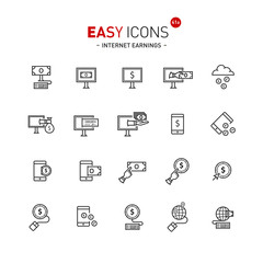 Easy icons 40a Internet earnings
