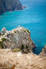 Coastal rocks of Cabo da Roca, Madeira island