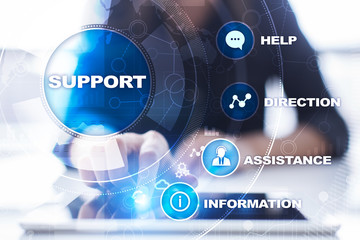 Wall Mural - Technical support. Customer help. Business and technology concept.