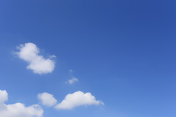 Cloud on blue sky in the daytime.