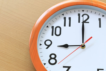 Focus time in clock of nine o'clock for the design in your business concept.