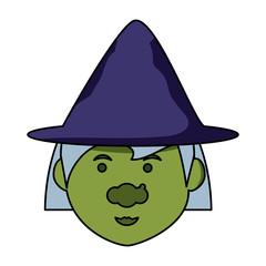 cartoon witch icon