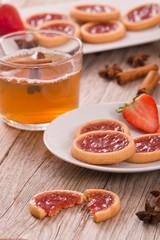 Strawberry tartlets.