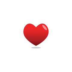 Elegant heart love logo icon design template vector