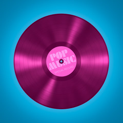 vinyl record pop music