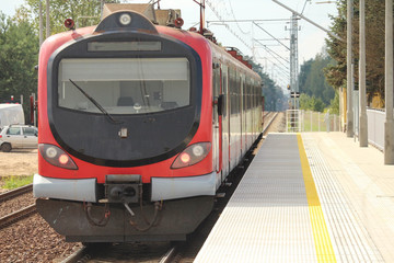 a suburban multiple unit train