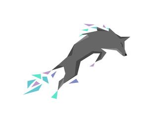 Geometric Wolf logo