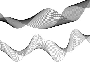 Design element Wave many parallel lines wavy form01