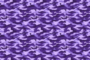 Purple camouflage texture. Vector
