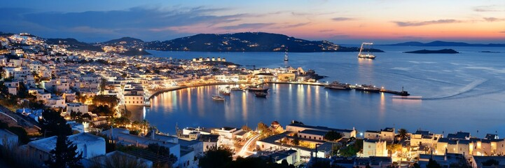 Fotomurales - Mykonos bay night