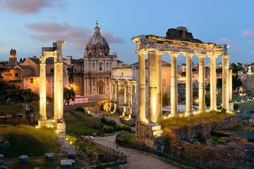 Rome Forum night