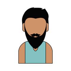 Man faceless cartoon
