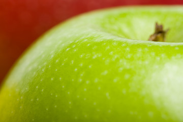 Red green apples background