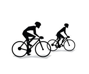 cycling silhouette cartoon design