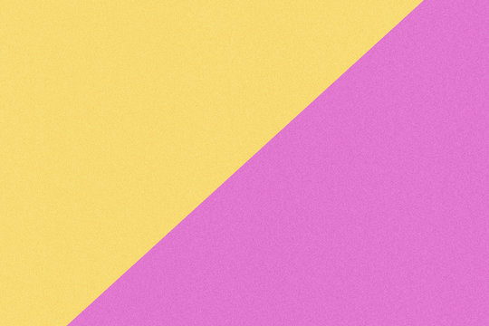 Two color paper with yellow and pink of the image. Background