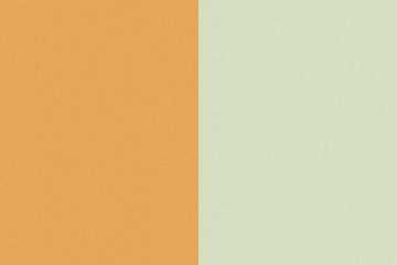 Two color paper with orange and green of the image. Background
