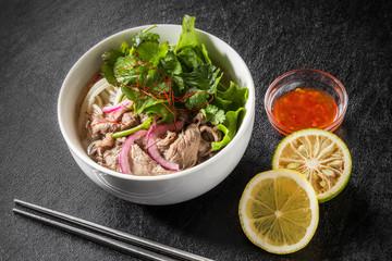 牛肉のフォー ベトナムのめん料理 Pho Vietnamese beef