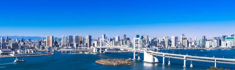 レインボーブリッジと東京ベイエリア ワイド