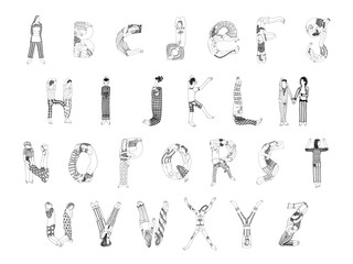 Alphabet of Sleeping Figures