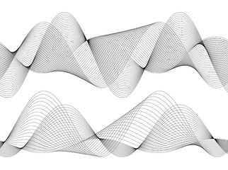 Design element Wave many parallel lines wavy form31