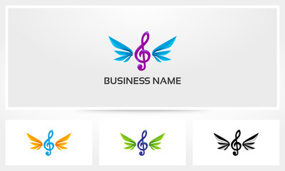 Clef Wings Music Logo
