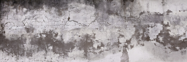 Poster Concrete Wallpaper Horizontal design on cement and concrete texture with cracks for pattern and abstract background.