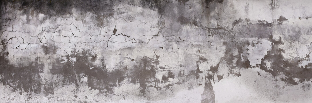 Horizontal design on cement and concrete texture with cracks for pattern and abstract background.