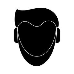 Man faceless cartoon icon vector illustration graphic design