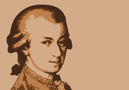 Mozart - musicien - portrait - personnage historique - musique - personnage célèbre - musique classique