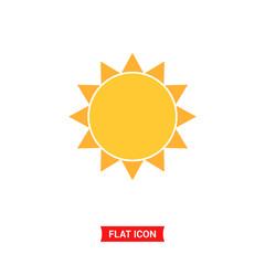 Sun vector icon, summer symbol