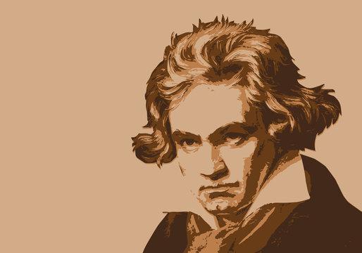 Beethoven - musicien - portrait - personnage historique - musique - personnage célèbre - musique classique