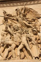 Statues de l'arc de triomphe de l'Etoile à Paris, France