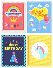 Set of Happy Birthday Little Princes Pictures