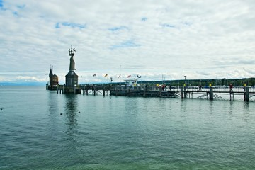 Germany-view on the entrance of the harbour of Constance