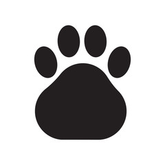 Animal paw icon vector illustration. Free royalty images.
