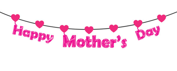 Happy Mother's Day vector illustration. Free royalty images.