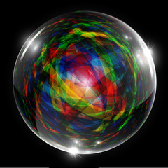 Abstract vector bubble