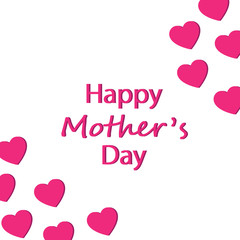 Happy Mother's Day card vector illustration. Free royalty images.