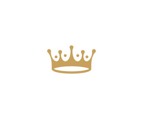 Crown logo template. King hat vector design. Royal headdress illustration