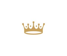 Crown logo template. King hat vector design. Royal headdress illustration