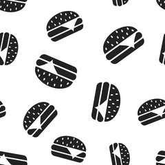 Burger fast food seamless pattern background. Business concept vector illustration. Hamburger symbol pattern.