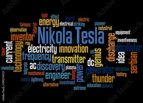 Nikola Tesla Word Cloud Concept 3 Stock Photo And Royalty Free