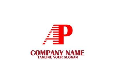 AP, A P letter logo vector.