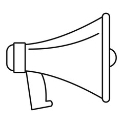 Old megaphone icon. Outline illustration of old megaphone vector icon for web