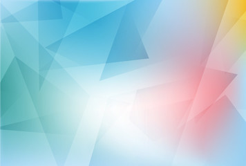 Background of bright colored polygons, vector, illustration